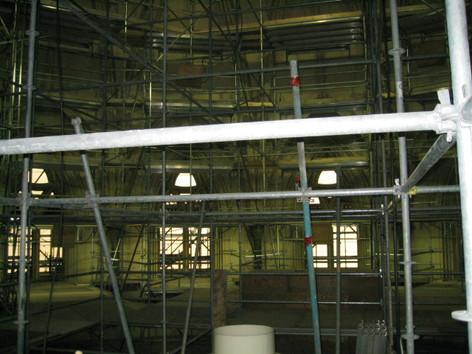 Interior of spire
