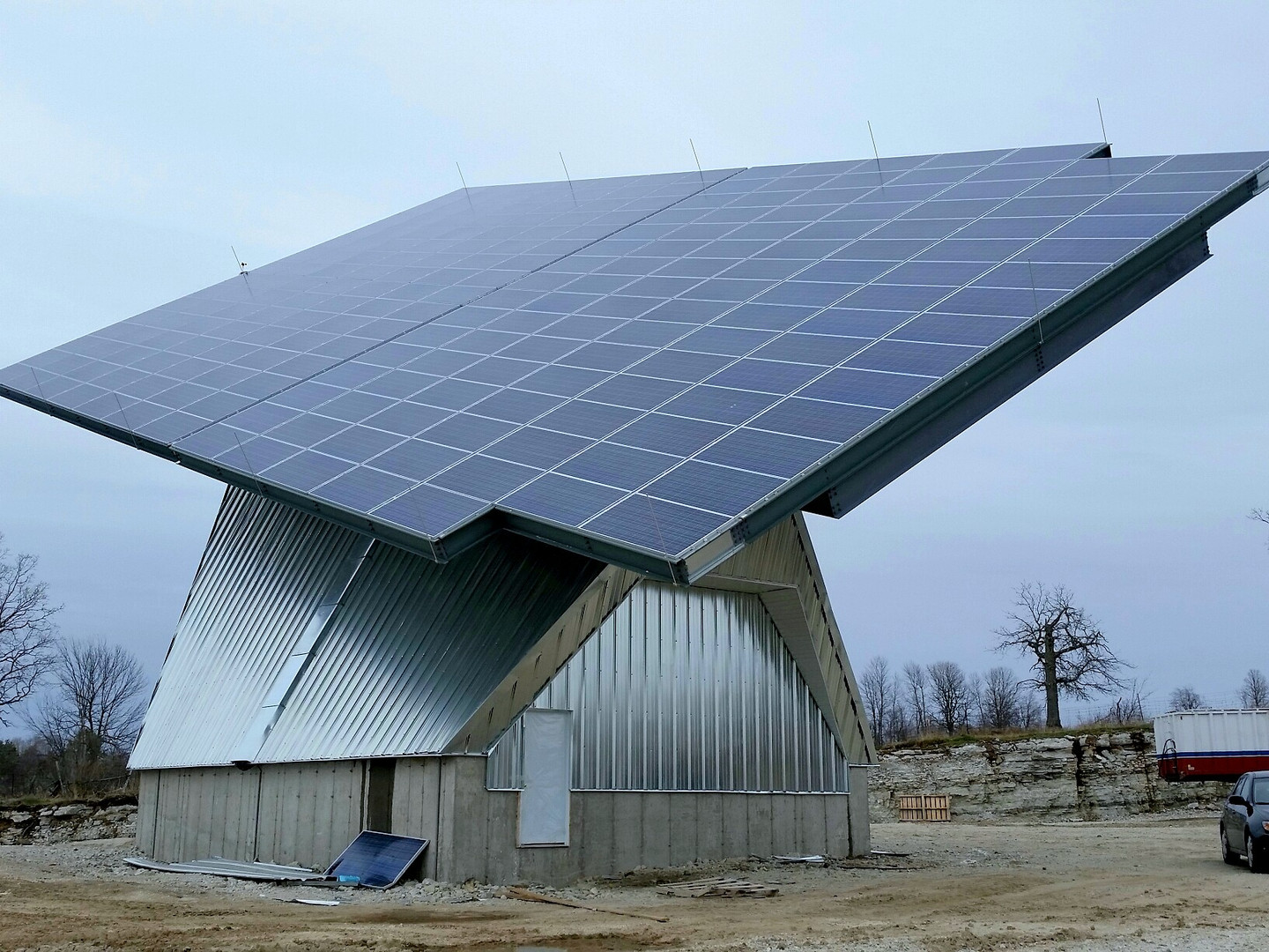 Solar House completed structure