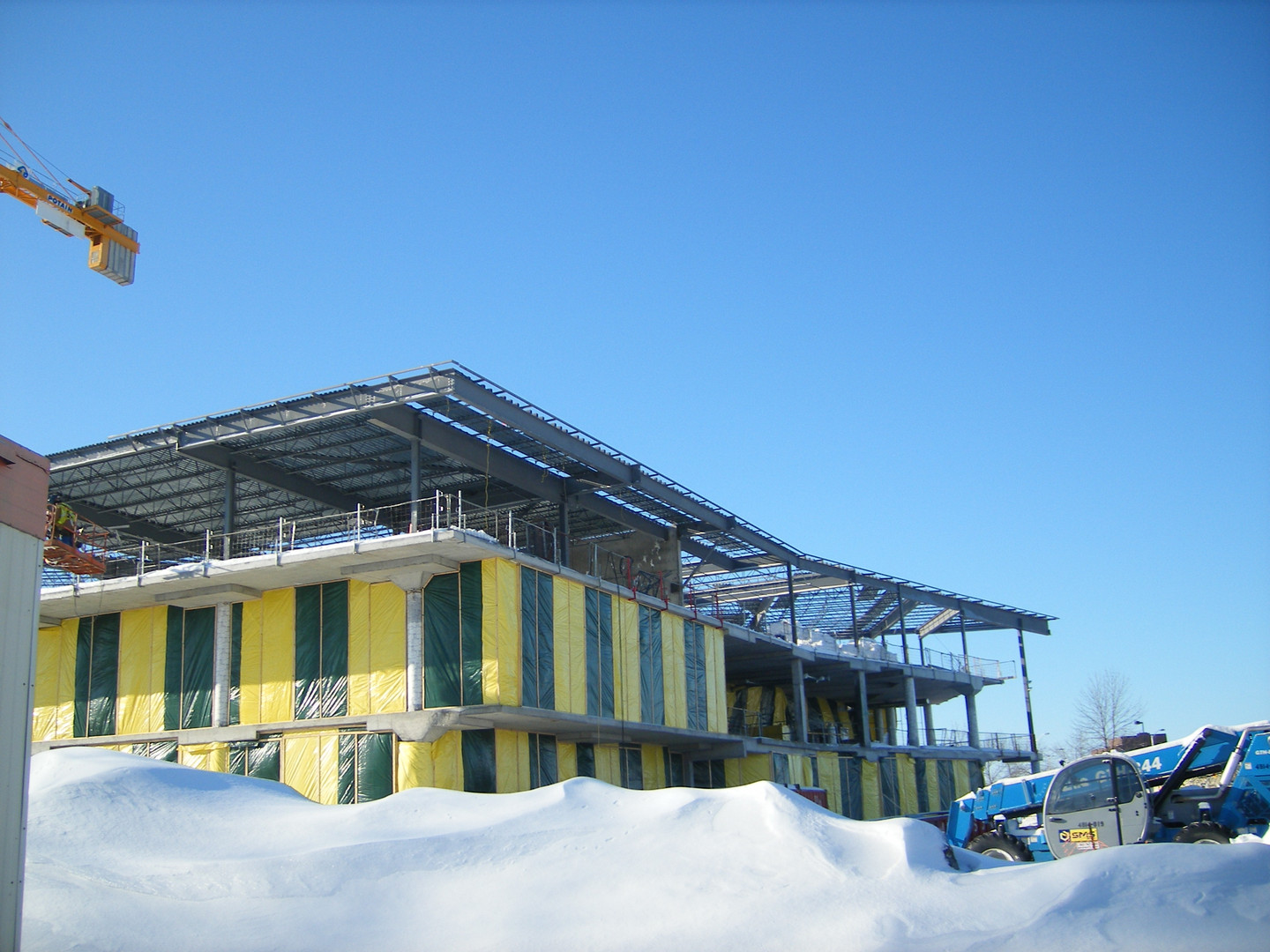 Algonquin College Student Commons steelwork