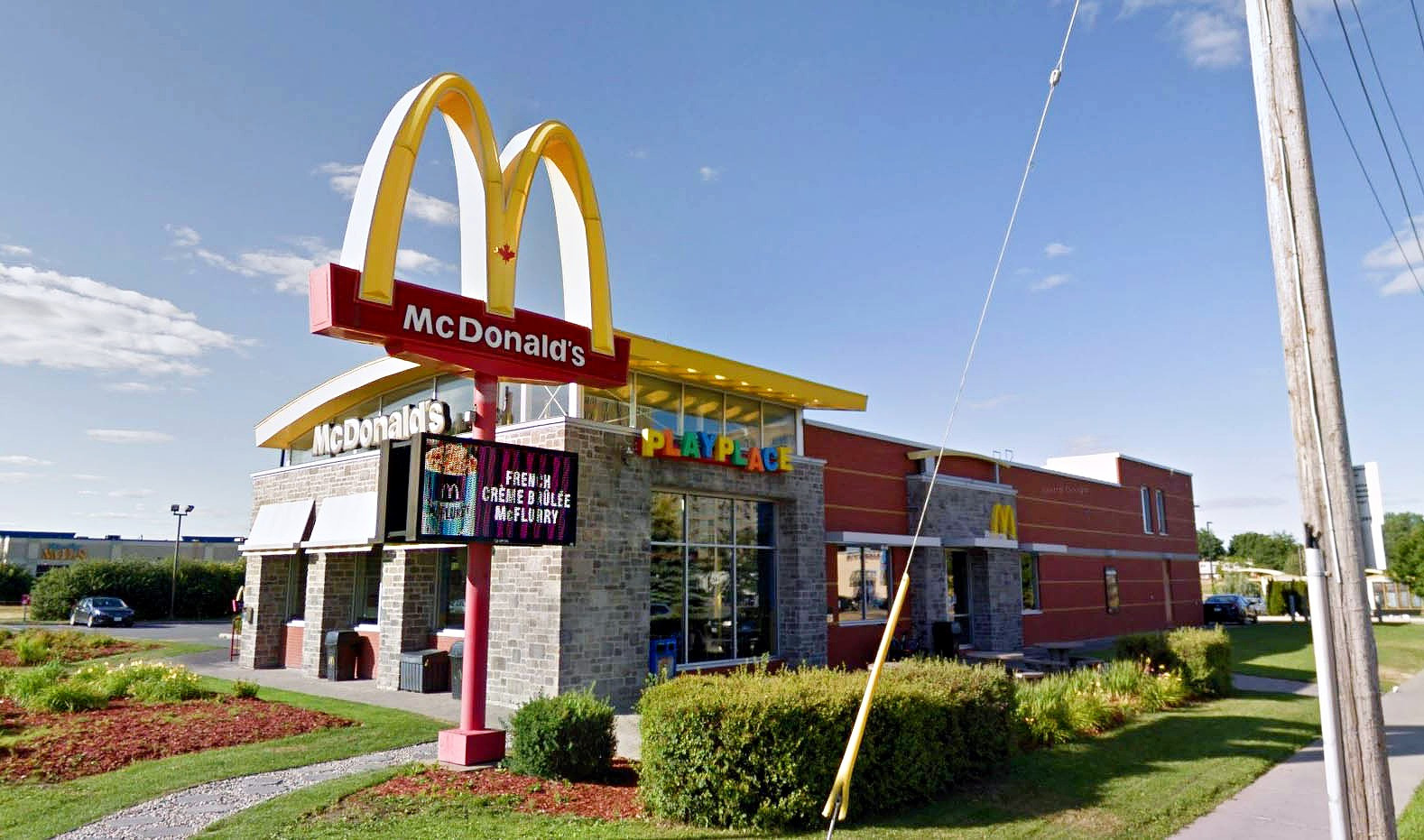 McDonald's restaurant completed building