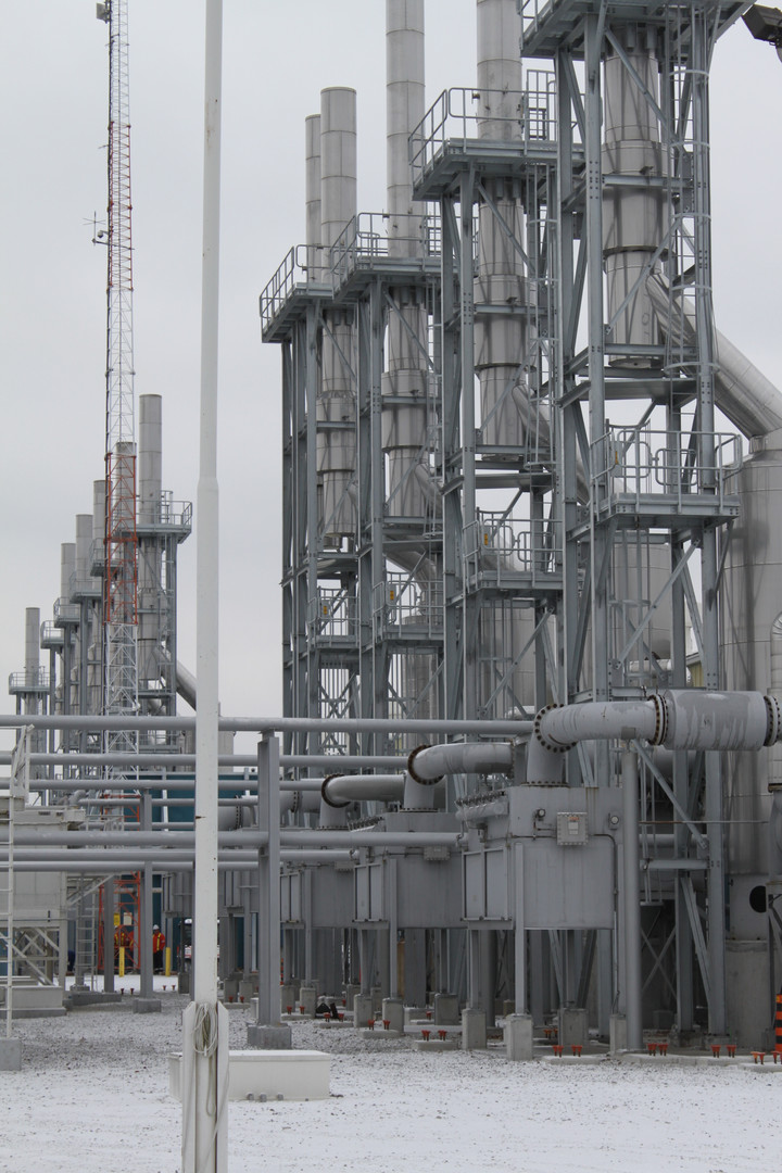 Enbridge stacks (singles & double) completed structures