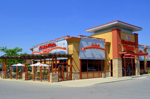 Boston Pizza London ON - completed structure