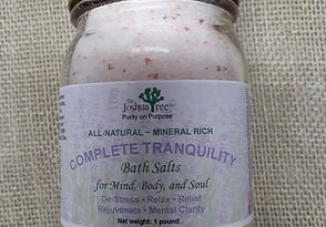 Complete Tranquility Bath Salts, Epsom salts, all-natural, organic, destress, relax, bath, mineral rich, pink himalayan salt
