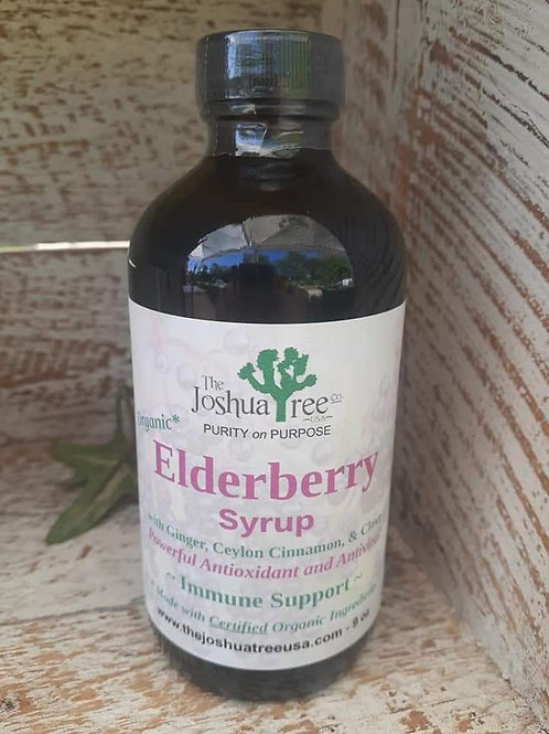 Organic Elderberry Syrup  9 fluid oz.