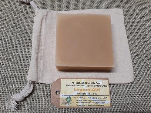 """""""Lemon-Aid"""" Goat Milk Soap (5.5 oz,)"""