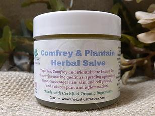 Comfrey and Plantain Herbal Salve, speed healing, organic, all-natural, herbs, skin healing, anti-inflammatory, broken bones, cell growth