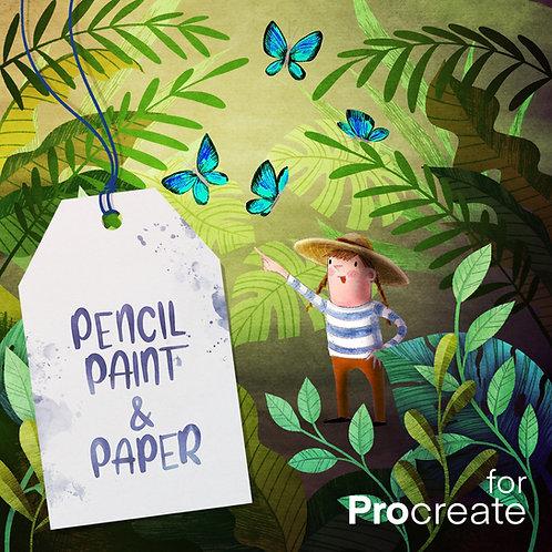 PENCIL PAINT & PAPER