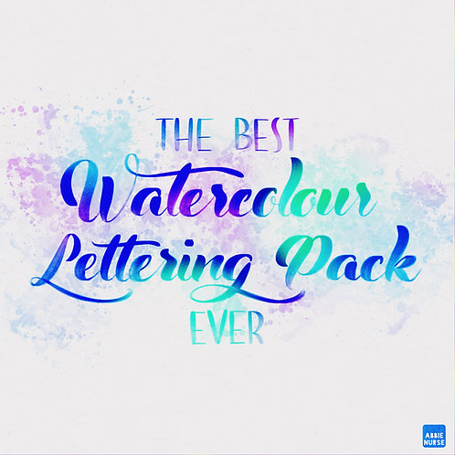 THE BEST WATERCOLOUR LETTERING PACK EVER