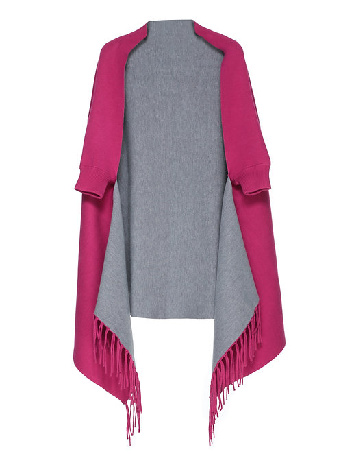 FTS11 - Ladies' Knitted Cardigan with Fringe