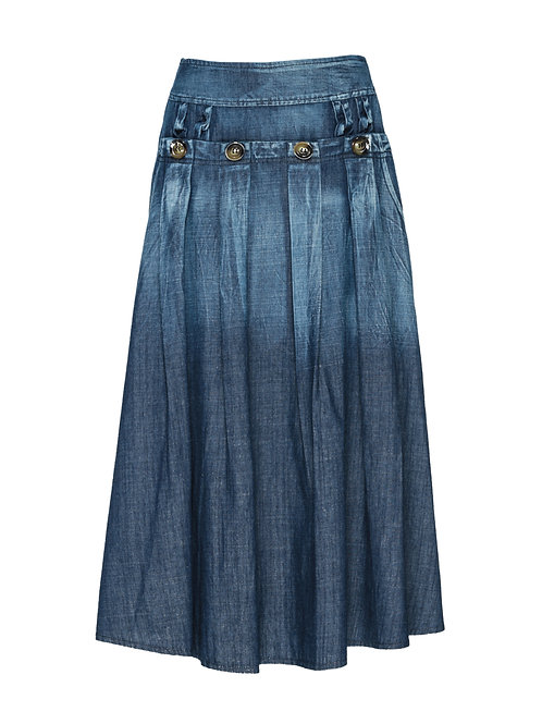FTOWS004 - Ladies' Denim Pullon Skirt