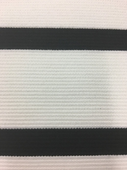 KN0694 - B/W Stripe Knitted Fabric