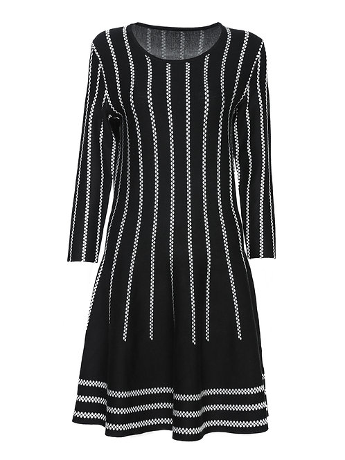 FTS17 - Ladies' Knitted Jacquard Dress