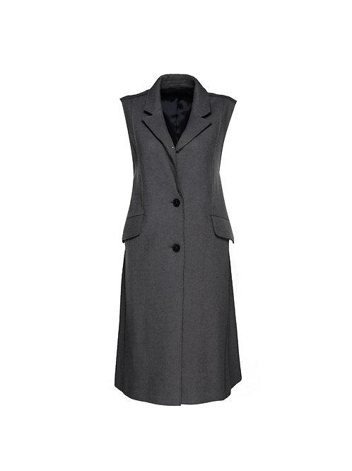 FTOWC007 - Ladies Woven Belted Sleeveless Coat