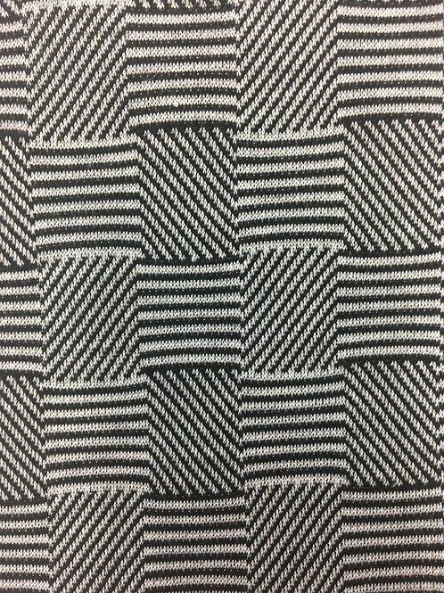 GRFAC-0417 - Two Tone Checks Knitted Fabric