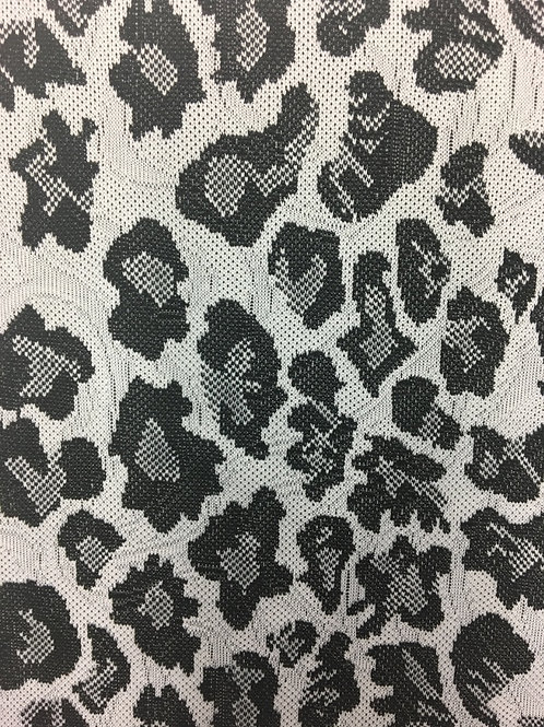 GRFAC-0414 - Leopard Pattern Knitted Fabric