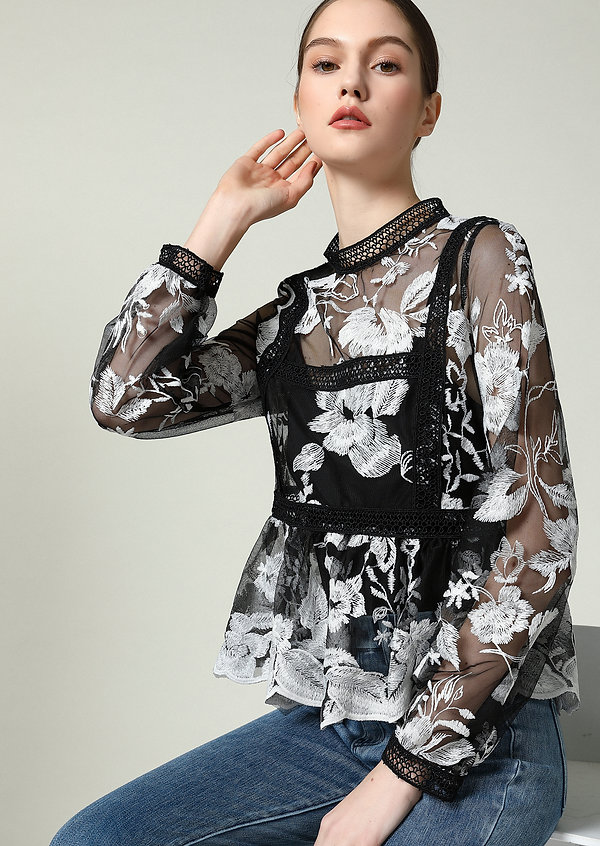 Embroidery Blouse Ladies Wear