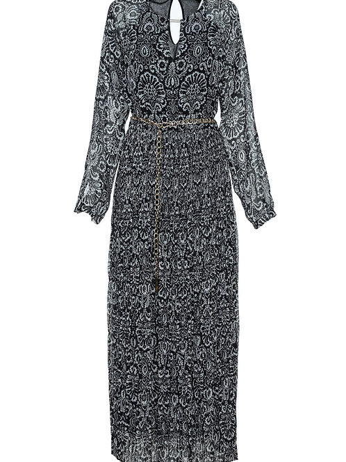 FTW26 - Ladies' Woven Pleated Long Dress