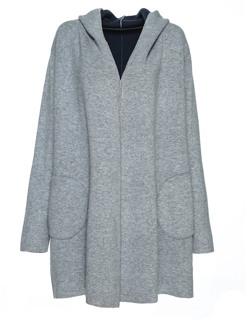 FTS12 - Ladies' Wool Knitted Cardigan with Hood