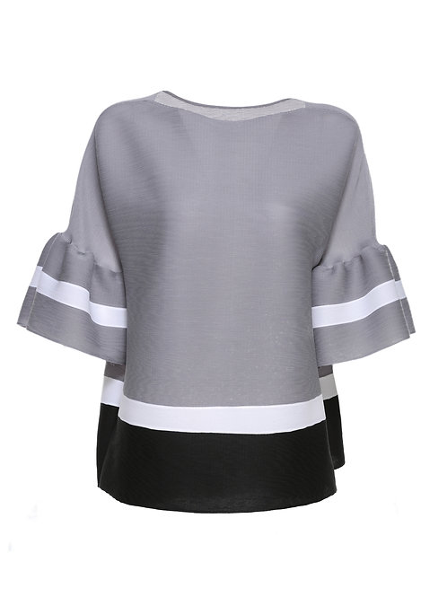 ref: SZ100112 - Color Block Blouse