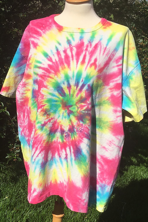 Adult Tie-Dye T-Shirt - Soft Swirl Design