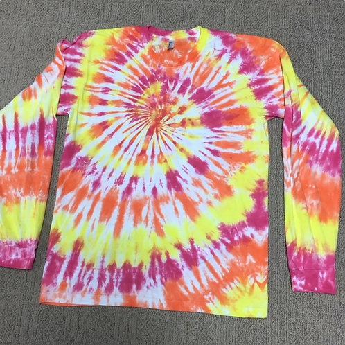 Adult Tie-Dye Long Sleeve T-Shirt - Soft Swirl Design