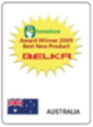 BELKA Avustralya En İyi yeni Ürün Ödülü Sahibi