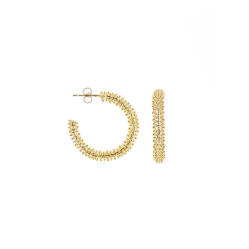 Orecchini moda donna in acciaio gold maxi hoops a cerchio grandi