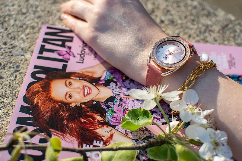 orologio moda donna con brillantini e ci