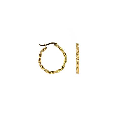 Orecchini in acciaio anallergico a cerchio gold hoops fashion
