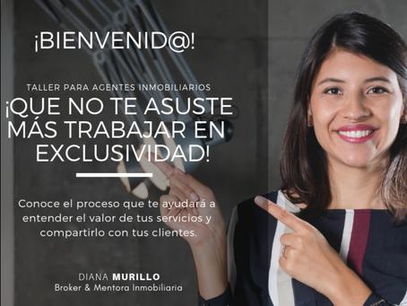 Conferencia virtual para Agentes inmobiliarios ¡QUE NO TE ASUSTE TRABAJAR MÁS EN EXCLUSIVIDAD!