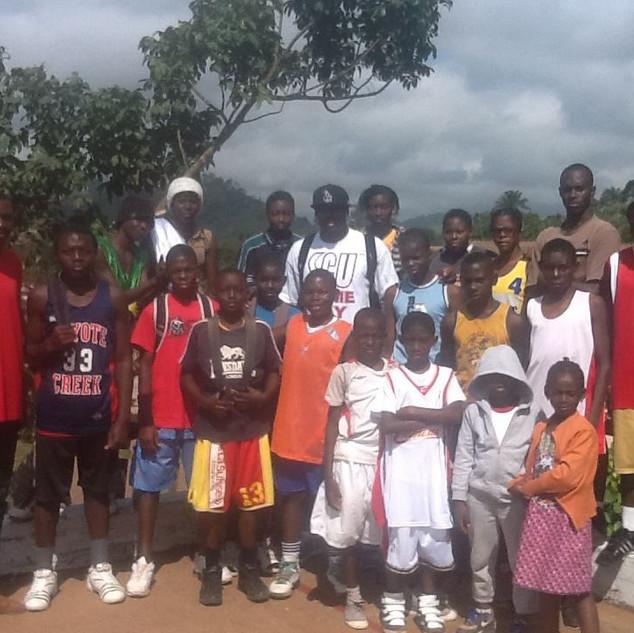 Yannick Atanga QA with kids