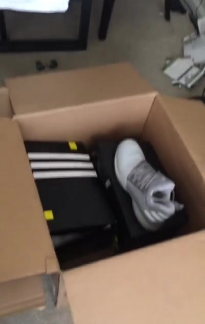 Brand new Adidas shoes ready to go!