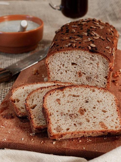 Pão de Uva Passa e Nozes