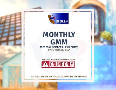 Monthly General Membership Meeting (GMM)