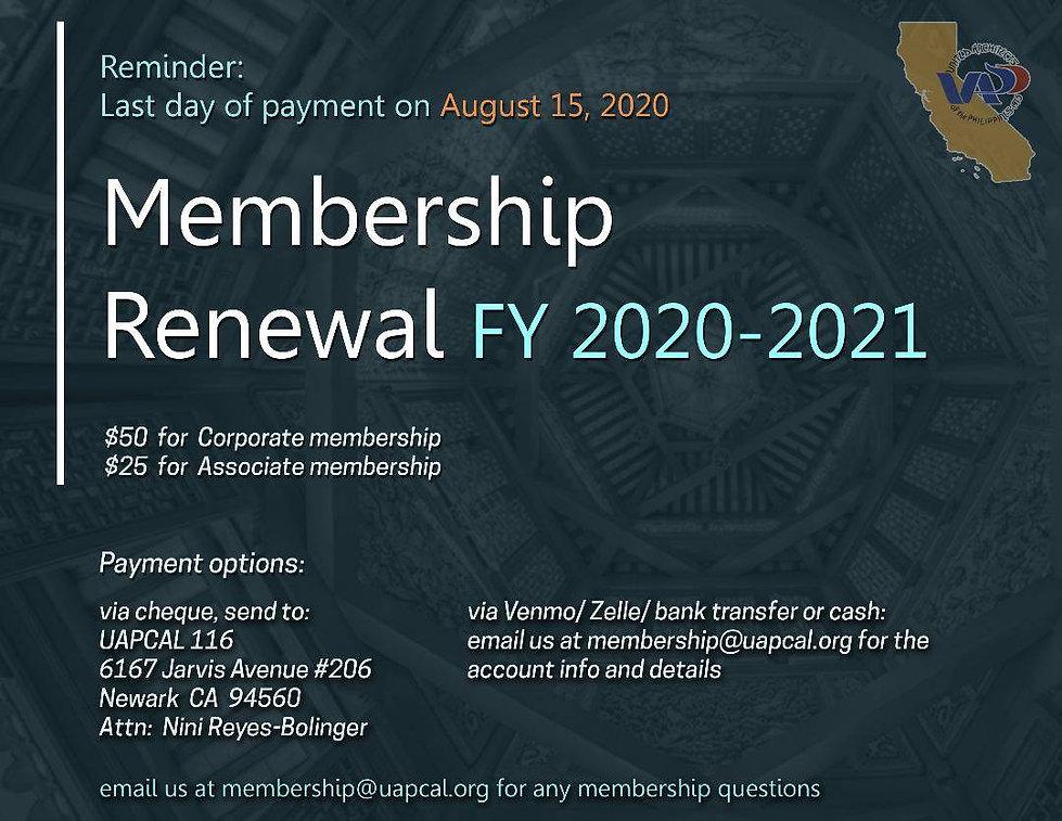 Annual Membership Renewal