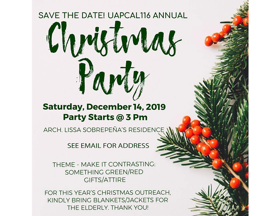 Annual Christmas Party 2019