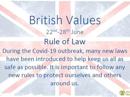 British Values (22nd June 2020)