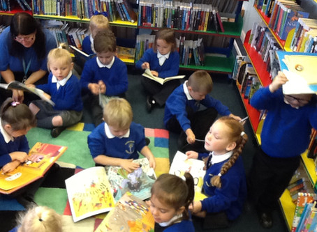 Reception Library Visit