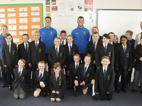 Visit from Hartlepool United