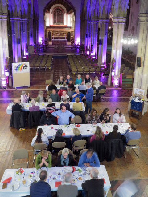 WRP dinner in All Saints