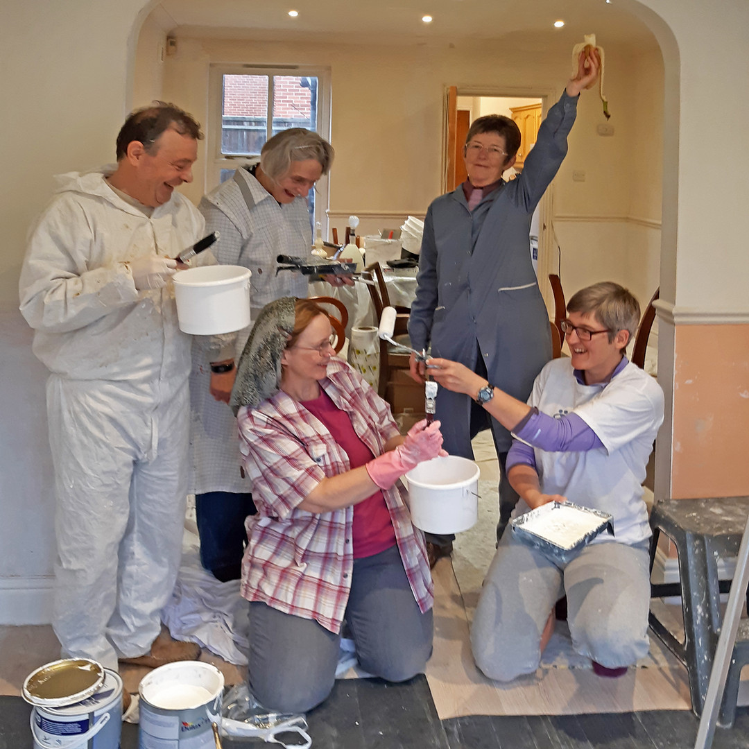 Painters at Mellor House