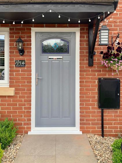 Shadow Grey Front Door