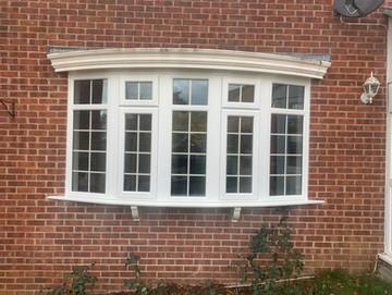 White PVC Bay Window