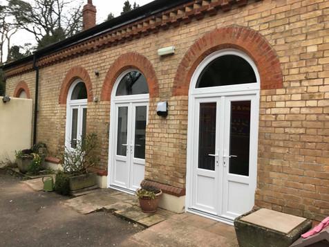 White pvc French Doors