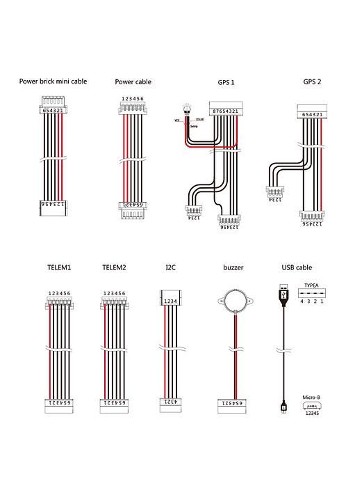 Pixhawk2.1 Cable Set