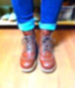 生徒さんの靴が完成しました。