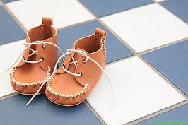 石丸靴工房の体験靴作り教室ベビーシューズ
