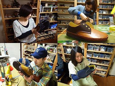 石丸靴工房の体験教室バブシューズ