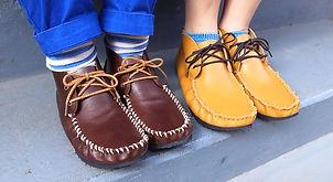 石丸靴工房の体験靴作り教室モカシン