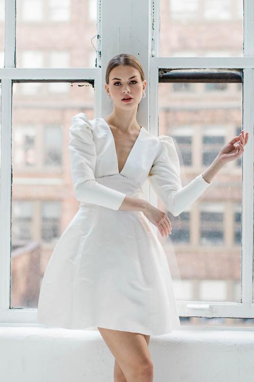 CHARLOTTE Puff Sleeve Mini Dress